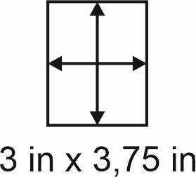 3mm zöllige Holzbase 3 x 3,75