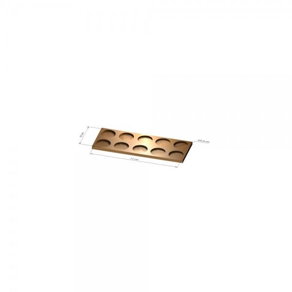 2x5 Tray 20 mm rund, 2mm