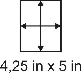 3mm zöllige Holzbase 4,25 x 5