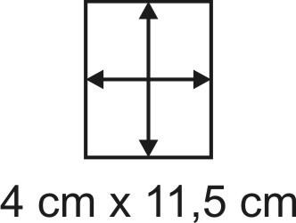 Eckbase 4x11,5 cm, 3mm dick