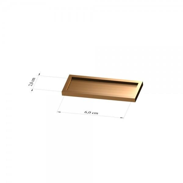 Tray 2 cm x 6 cm, 2mm
