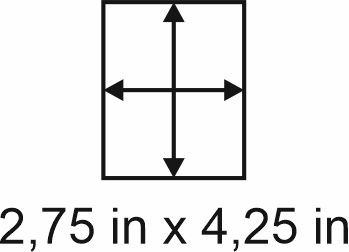 3mm zöllige Holzbase 2,75 x 4,25