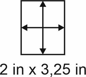 2mm zöllige Holzbase 2 x 3,25