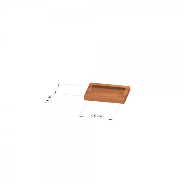 Tray 1,5 cm x 3 cm, 2mm