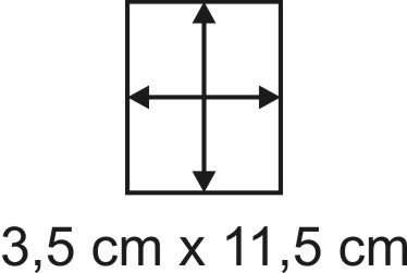 Eckbase 3,5x11,5 cm, 3mm dick