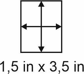 3mm zöllige Holzbase 1,5 x 3,5