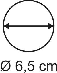 Tabletop Rundbase 6,5 cm, 2mm