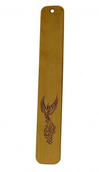 Lesezeichen Phönix aus Holz