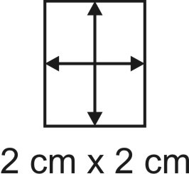 Eckbase 2x2 cm, 3mm dick