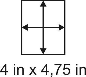 2mm zöllige Holzbase 4 x 4,75