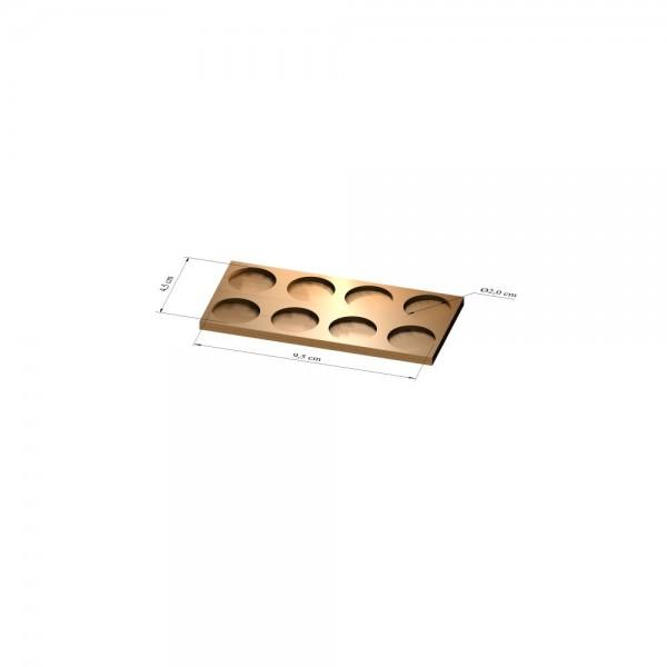 2x4 Tray 20 mm rund, 3mm