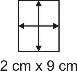 Eckbase 2x9 cm, 3mm dick