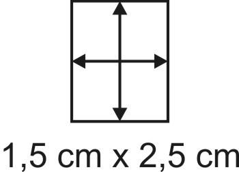 Eckbase 1,5x2,5 cm, 3mm dick