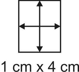 Eckbase 1x4 cm, 3mm dick