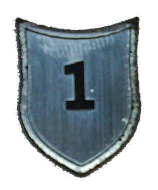 """Zahlenmarker Schild """"1"""", silber"""