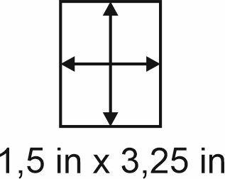 3mm zöllige Holzbase 1,5 x3,25