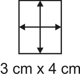 Eckbase 3x4 cm, 3mm dick