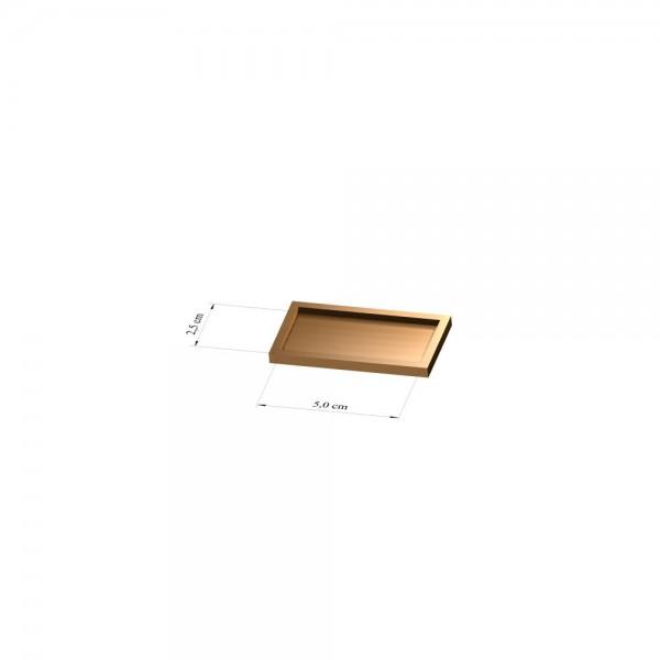 Tray 2,5 cm x 5 cm, 3mm