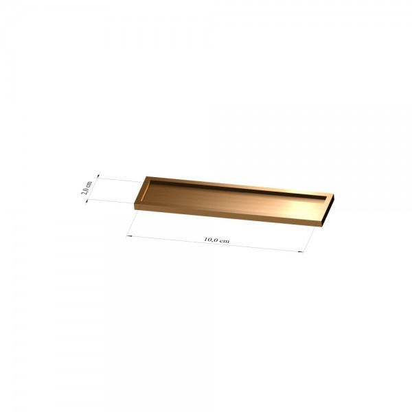 Tray 2 cm x 10 cm, 2mm