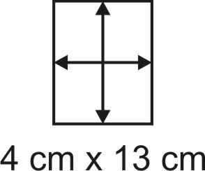 Eckbase 4x13 cm, 3mm dick