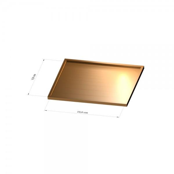 Tray 8 cm x 10 cm, 2mm