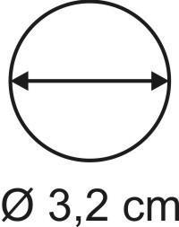 Tabletop Rundbase 3,2 cm, 3mm