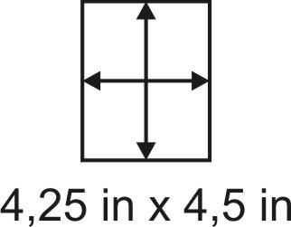 2mm zöllige Holzbase 4,25 x 4,5
