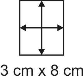 Eckbase 3x8 cm, 3mm dick