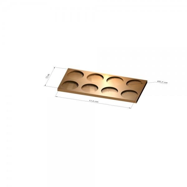 2x4 Tray 25 mm rund, 3mm