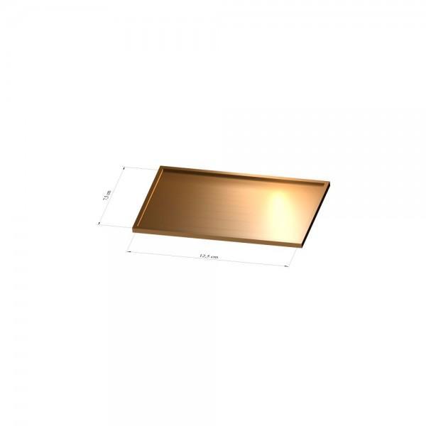 Tray 7,5 cm x 12,5 cm, 3mm