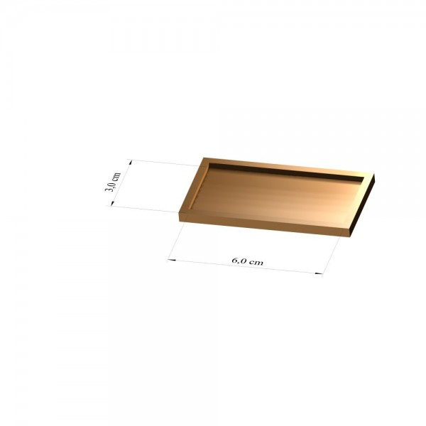 Tray 3 cm x 6 cm, 2mm