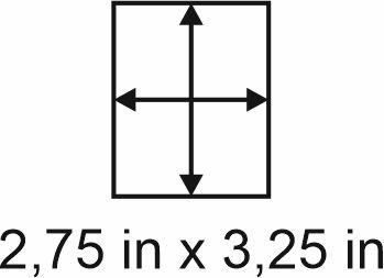 3mm zöllige Holzbase 2,75 x 3,25