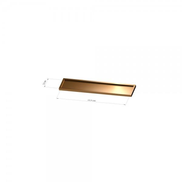 Tray 2,5 cm x 12,5 cm, 2mm