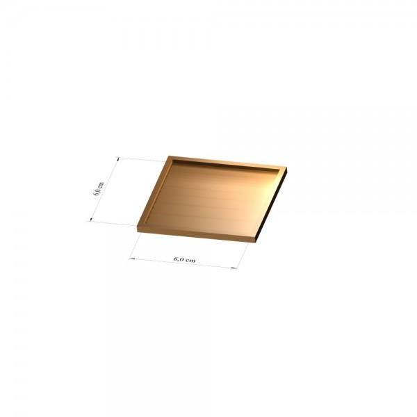 Tray 6 cm x 6 cm, 3mm