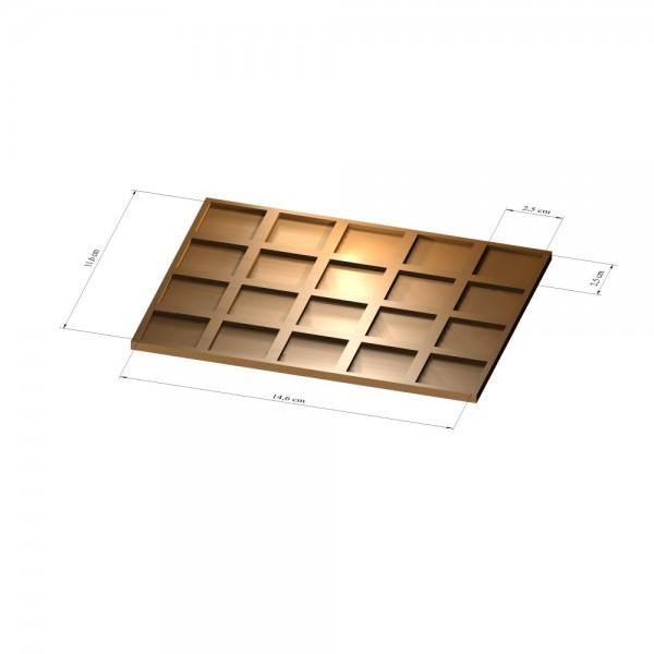 4x5 Tray 25 mm eckig, 3mm