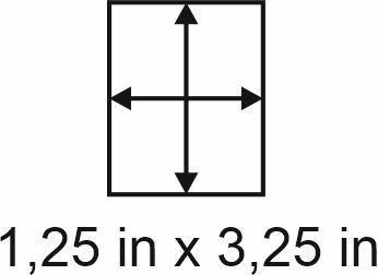3mm zöllige Holzbase 1,25 x3,25