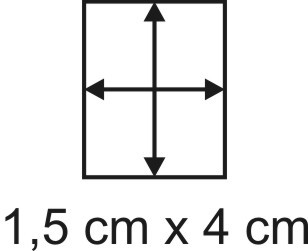 Eckbase 1,5x4 cm, 3mm dick