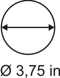 3mm zöllige Rundbase ø 3,75