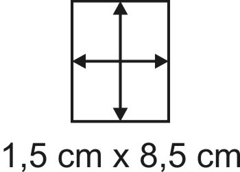 Eckbase 1,5x8,5 cm, 3mm dick