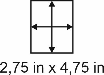 3mm zöllige Holzbase 2,75 x 4,75