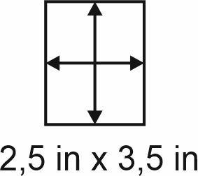 3mm zöllige Holzbase 2,5 x 3,5