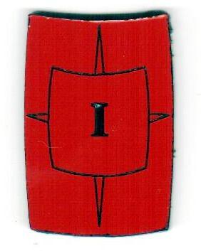 """Zahlenmarker Scuta """"1"""", rot"""