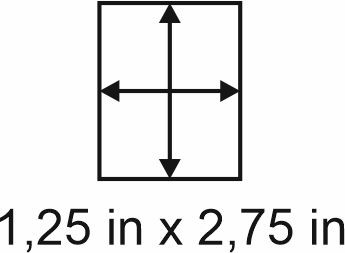 2mm zöllige Holzbase 1,25 x 2,75