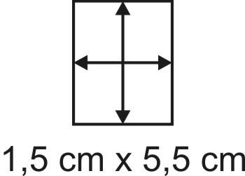 Eckbase 1,5x5,5 cm, 3mm dick