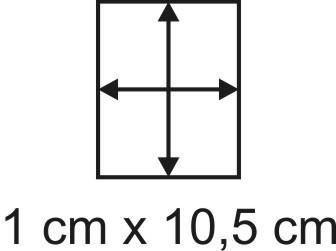 Eckbase 1x10,5 cm, 3mm dick