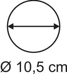 Tabletop Rundbase 10,5 cm, 3mm