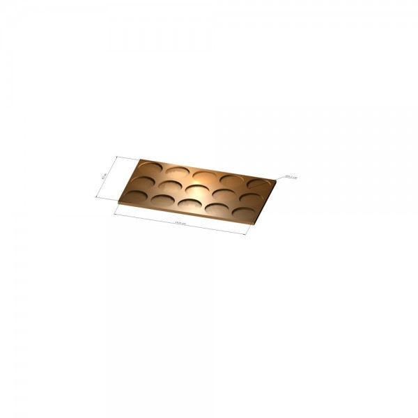 3x5 Tray 32 mm rund, 2mm