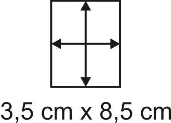 Eckbase 3,5x8,5 cm, 3mm dick