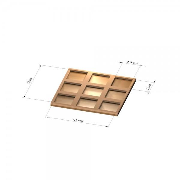 3x3 Tray 20 mm eckig, 3mm
