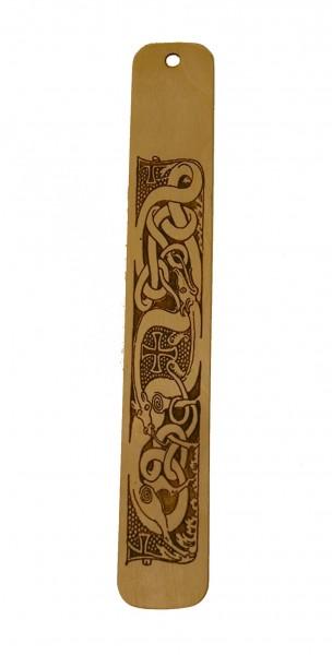 Lesezeichen Weltenschlange aus Holz